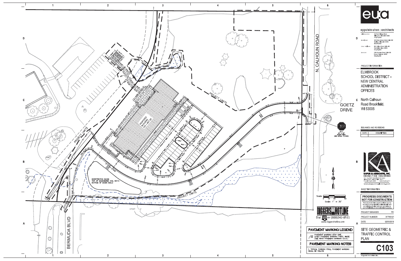 Site Plan - Elmbrook School District Administration Building